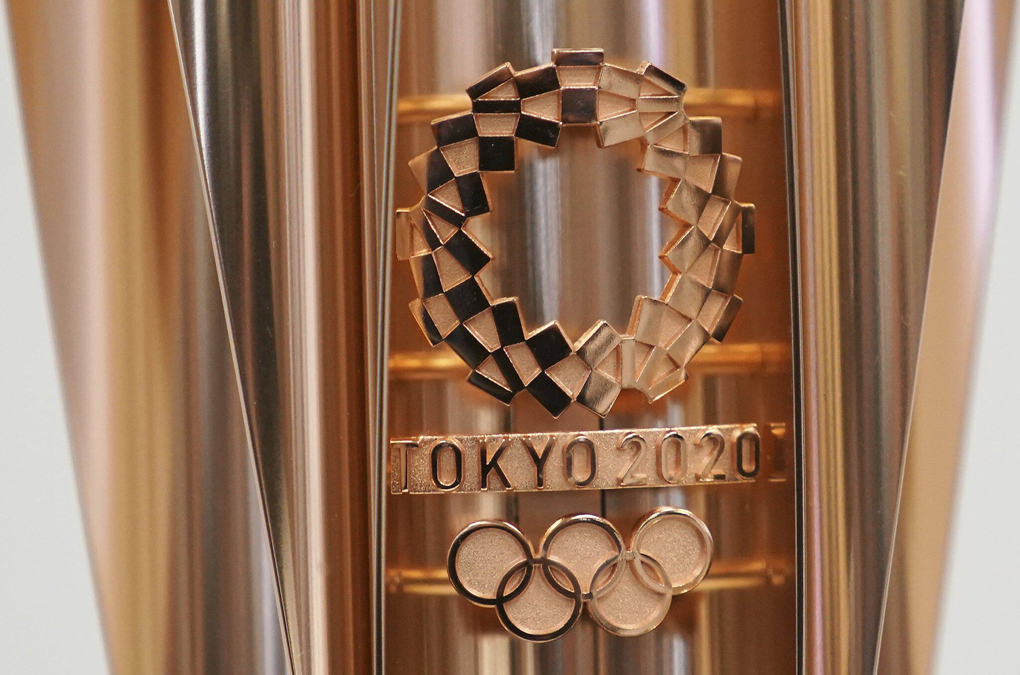 Bild zu Vor Olympia 2020 in Tokio - Enthüllung Olympische Fackel