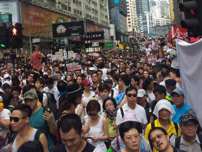Bild zu Demonstration in Hongkong