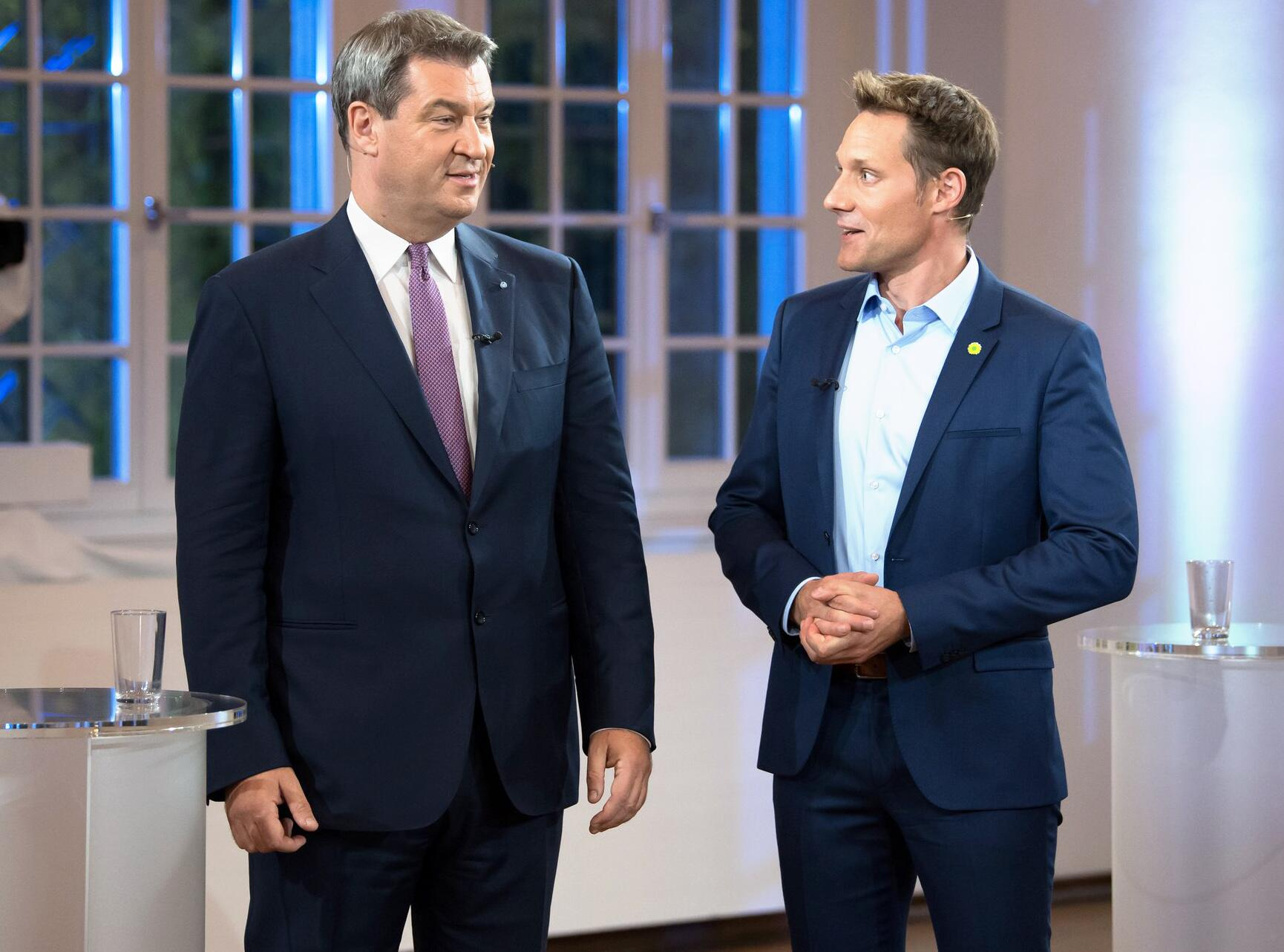 Bild zu TV-Duell zur Landtagswahl, Markus Söder, Ludwig Hartmann