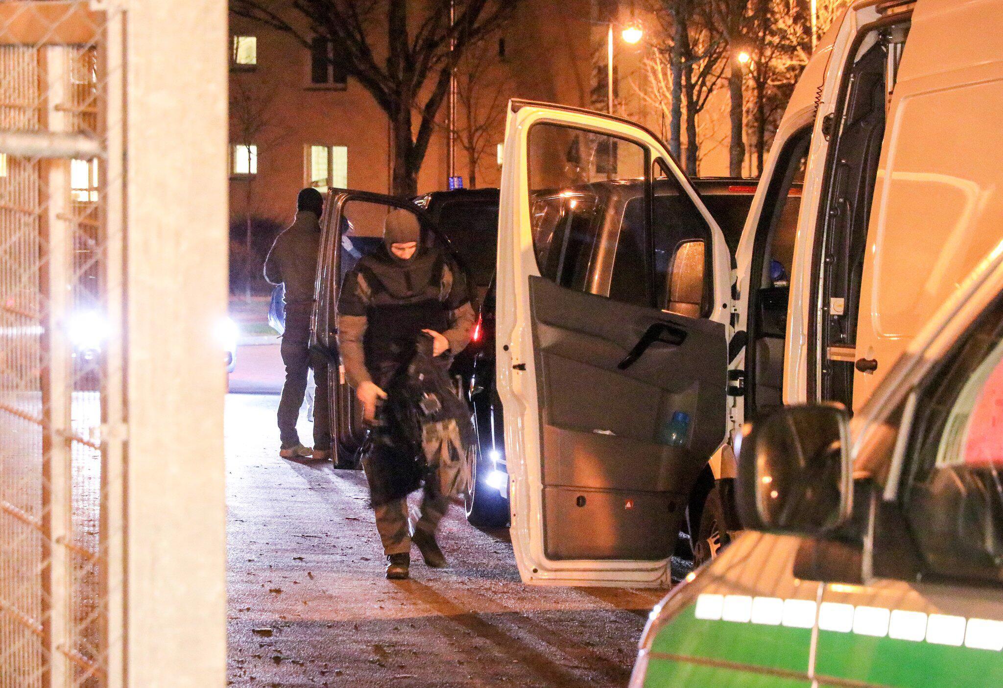Bild zu Polizeieinsatz im Ankerzentrum in Bamberg