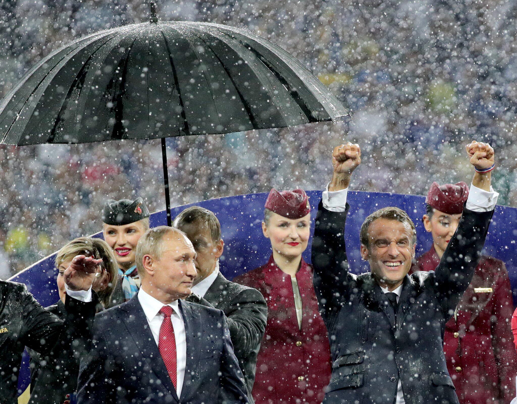 Bild zu Emmanuel Macron WM 2018 - Frankreich - Kroatien