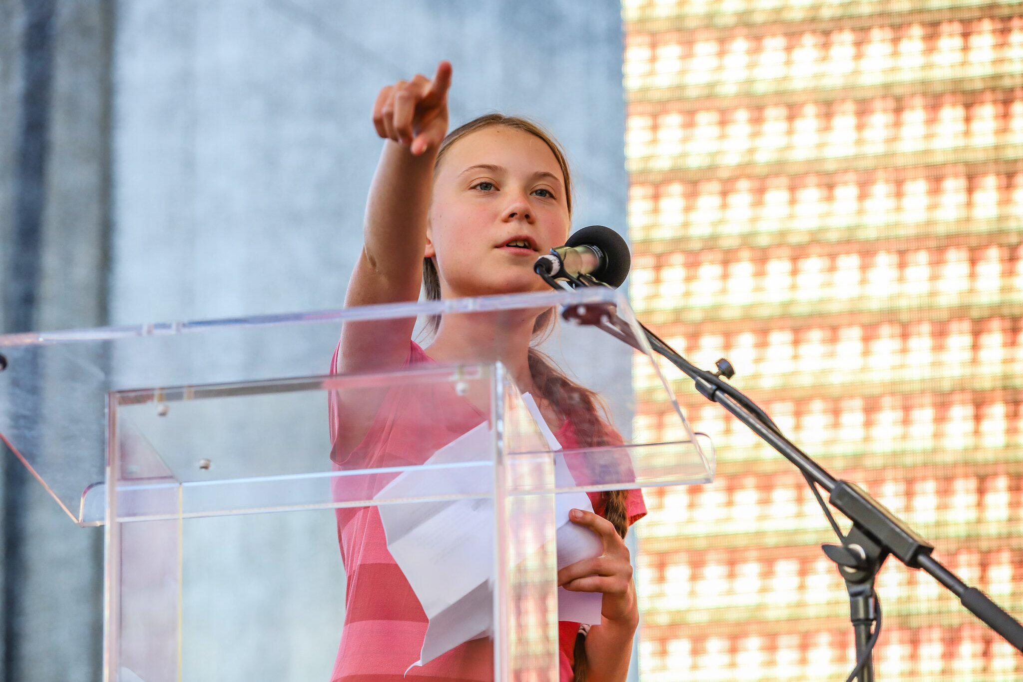 Bild zu Klimastreik, Fridays for Future, Greta Thunberg, Kundgebung, New York