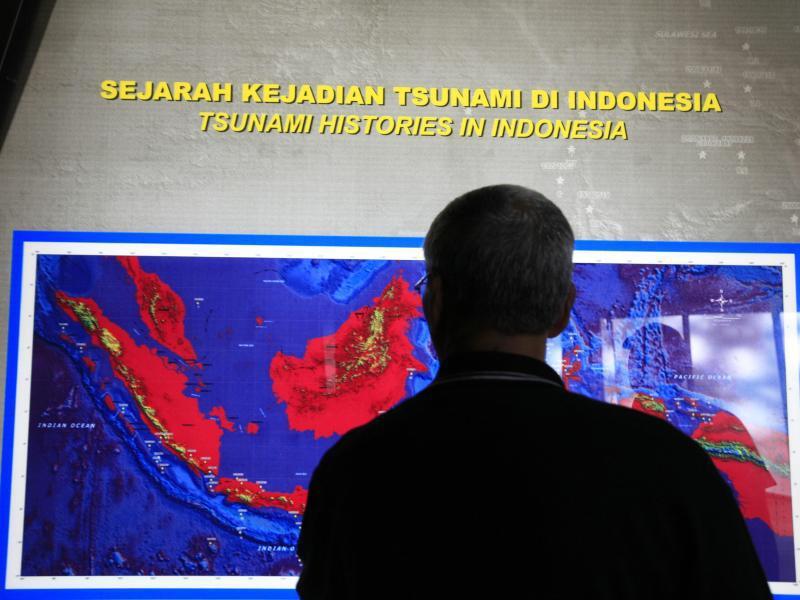 Bild zu Karte mit Tsunami-Gebieten