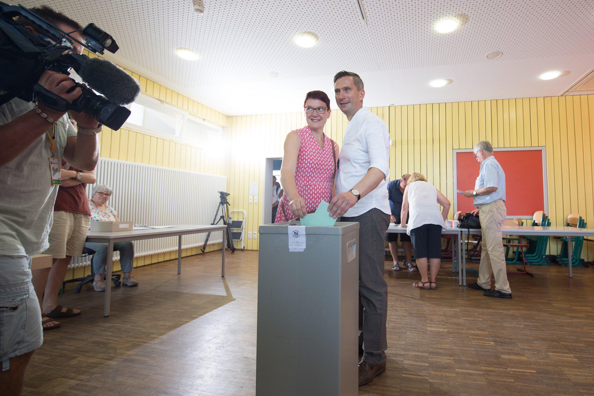 Bild zu Landtagswahl Sachsen - Stimmabgabe SPD