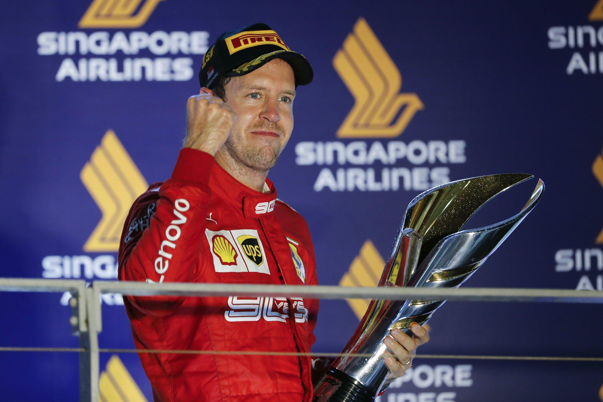 Bild zu Grand Prix von Singapur mit Sebastian Vettel als Sieger