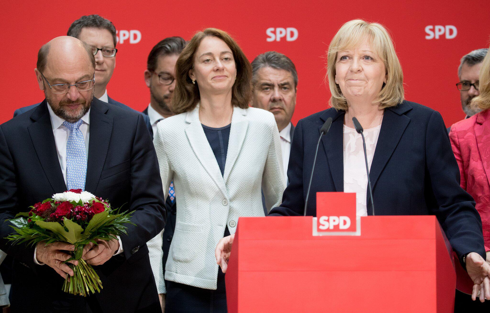 Bild zu Martin Schulz Katarina Barley Hannelore Kraft