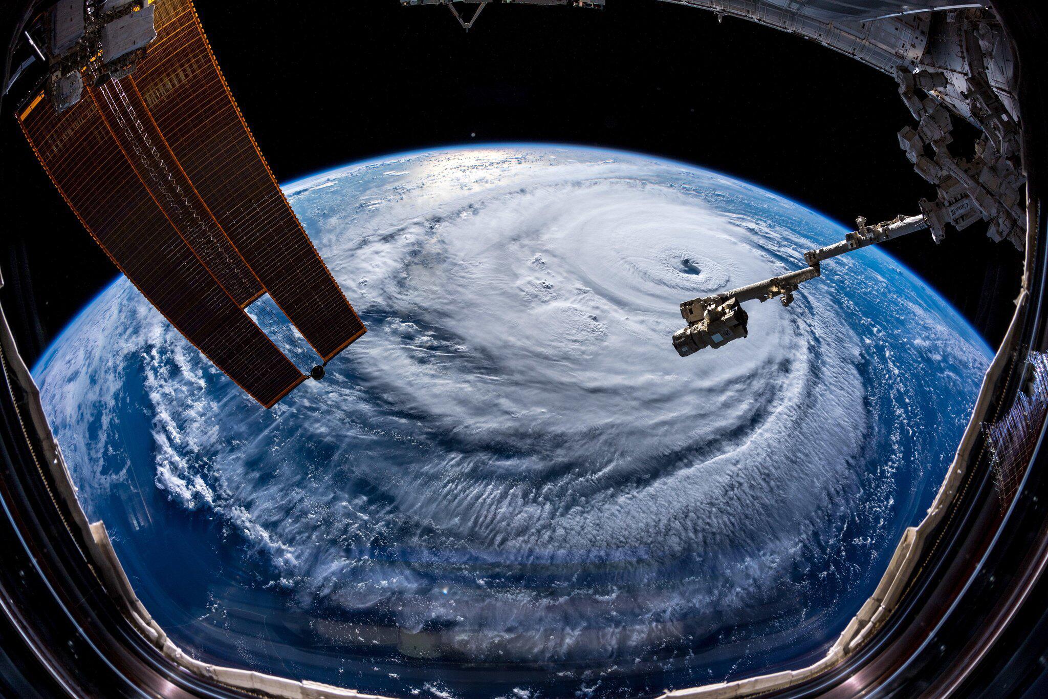 """Bild zu Hurrikan """"Florence"""" - Aufnahme aus der ISS"""
