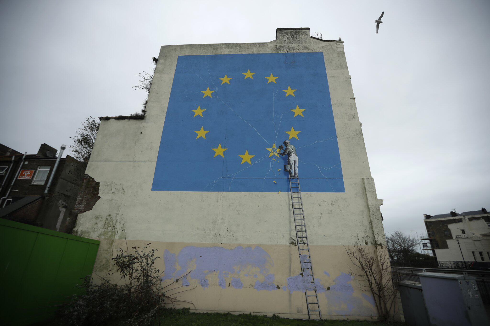 Bild zu Banksy-Wandgemälde