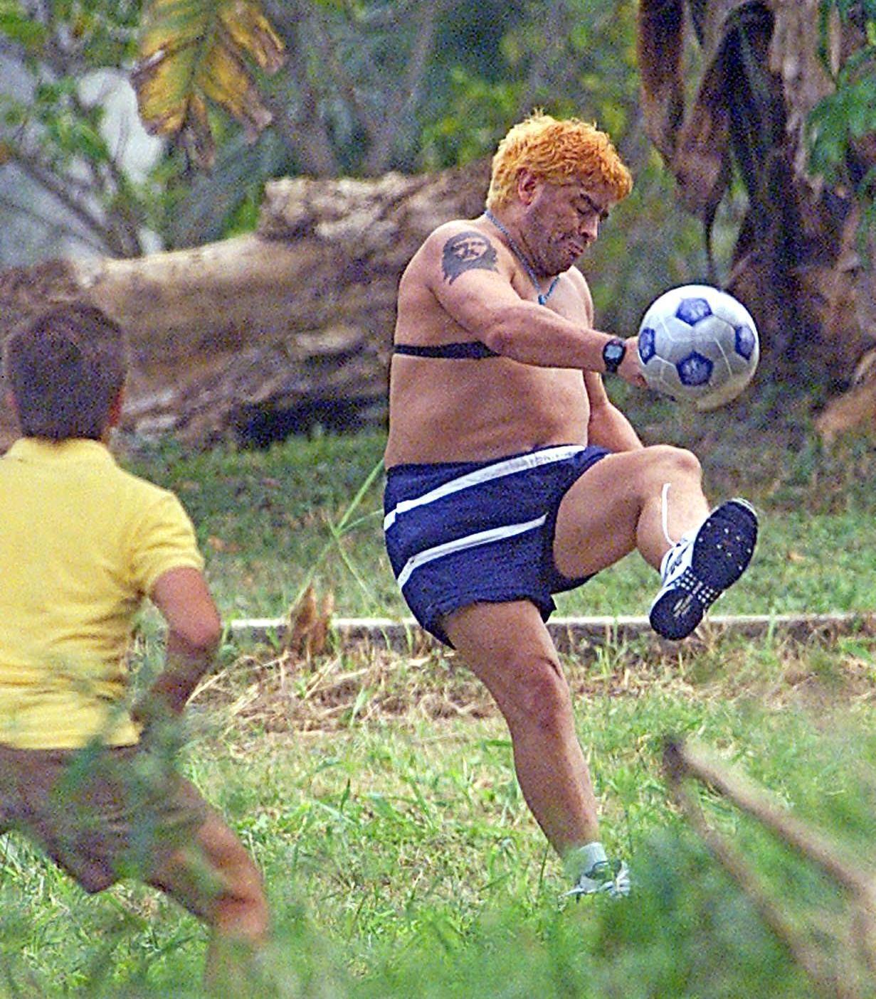 Bild zu Diego Maradona, Rehabilitation, Garten, Fußball, Kuba, Las Praderas