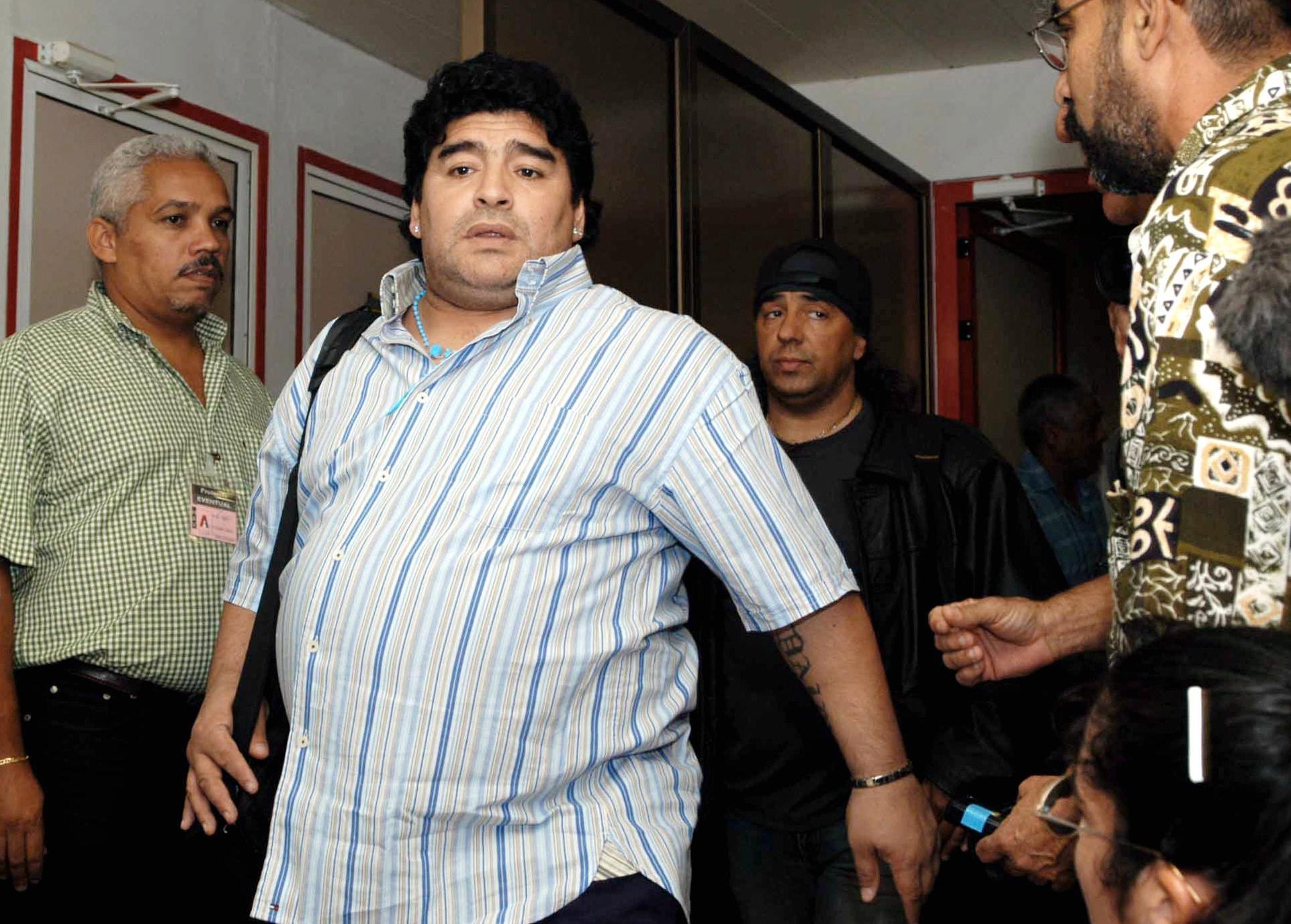 Bild zu Diego Maradona, Havana, Kuba, Flughafen, Ankunft, Jose Marti