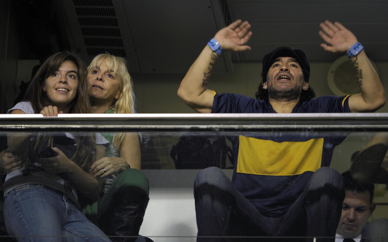 Bild zu Diego Maradona, Claudia Villafane, Dalma, 2008, Copa Libertadores, Boca Juniors, UA Maracaibo
