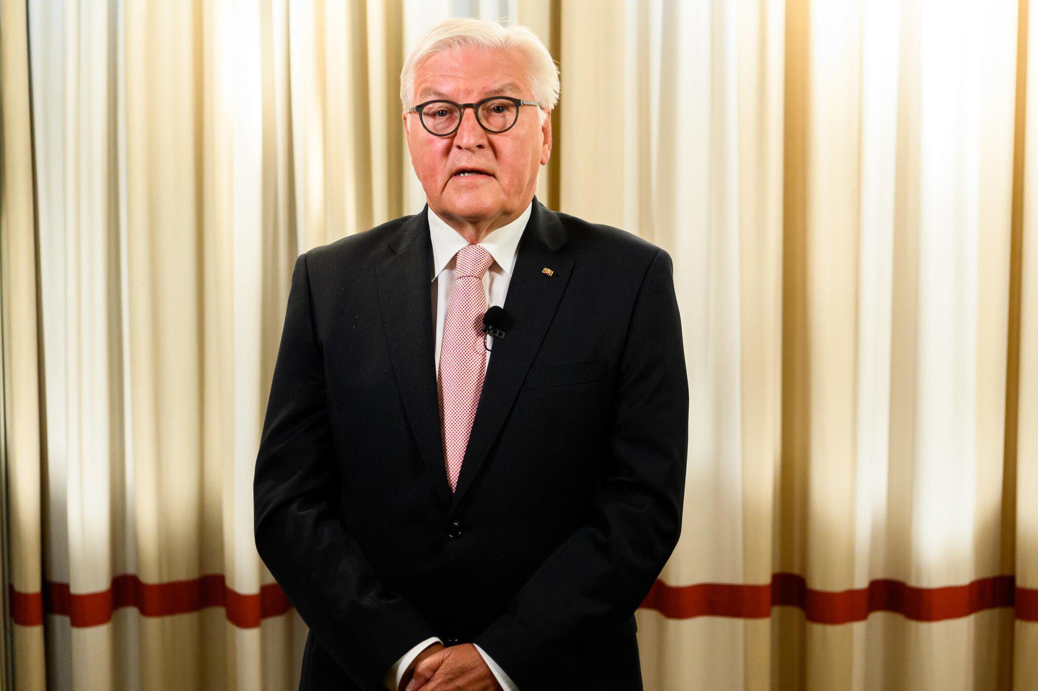 Bild zu Bundespräsident Steinmeier mit Videobotschaft zu Corona