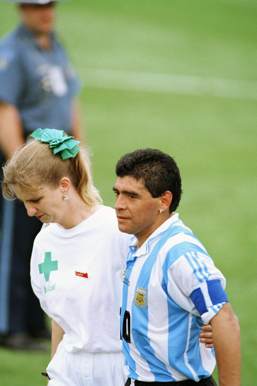 Bild zu Diego Maradona, Argentinien, Nigeria, WM 1994, USA, Doping