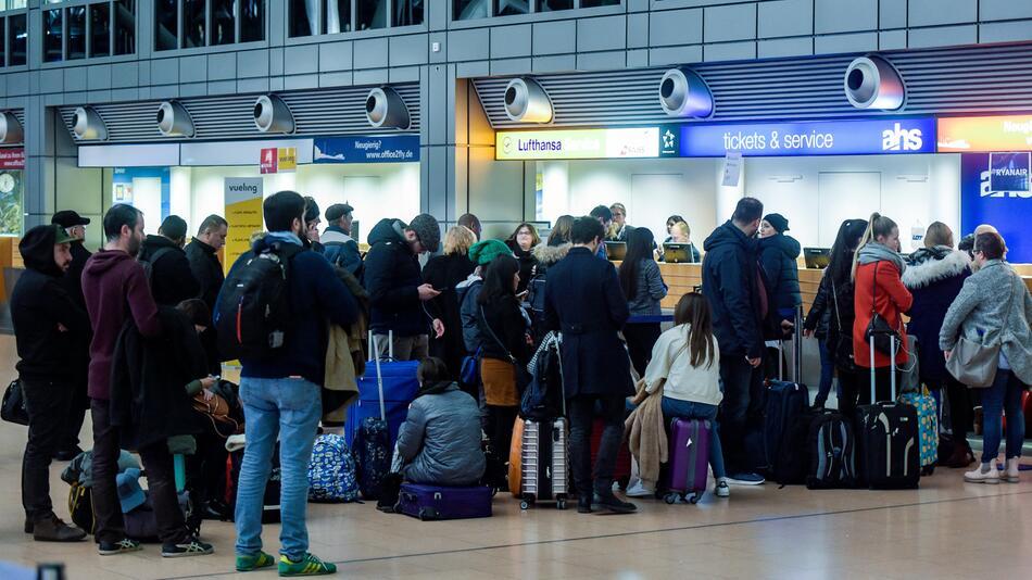 Streik, Flughafen, Düsseldorf, Hannover
