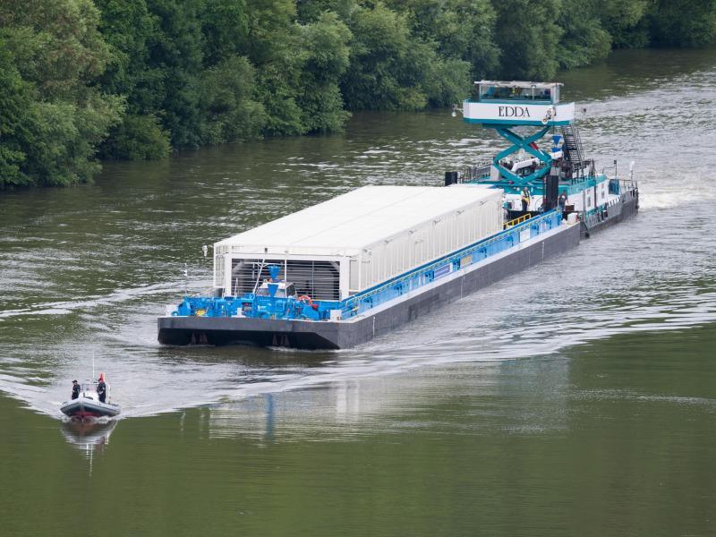 Bild zu Atommülltransport auf dem Neckar