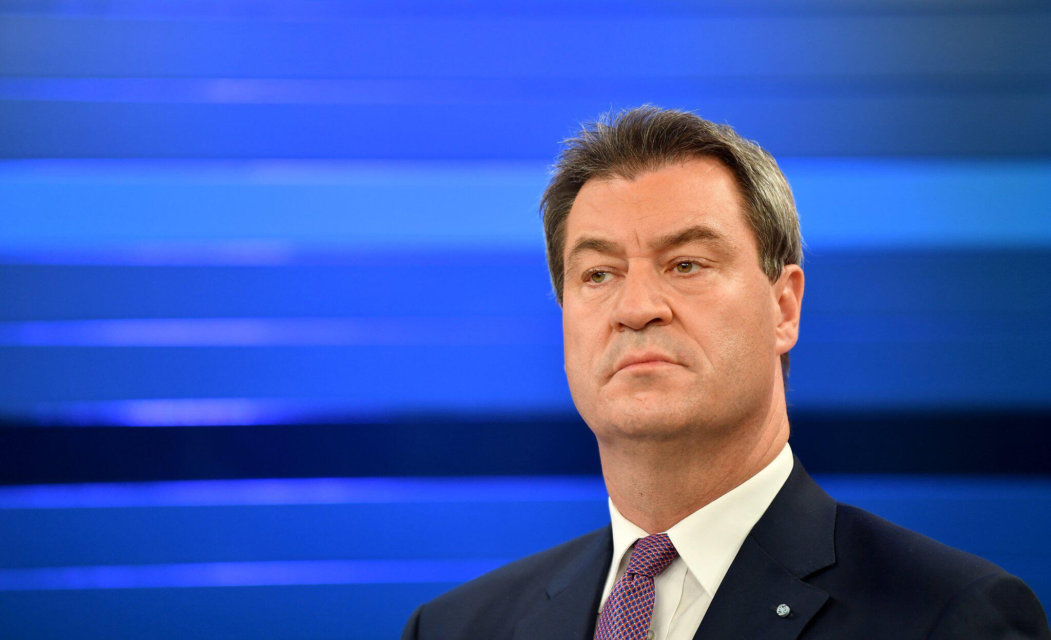 Bild zu Bavarian state election - Söder at ZDF