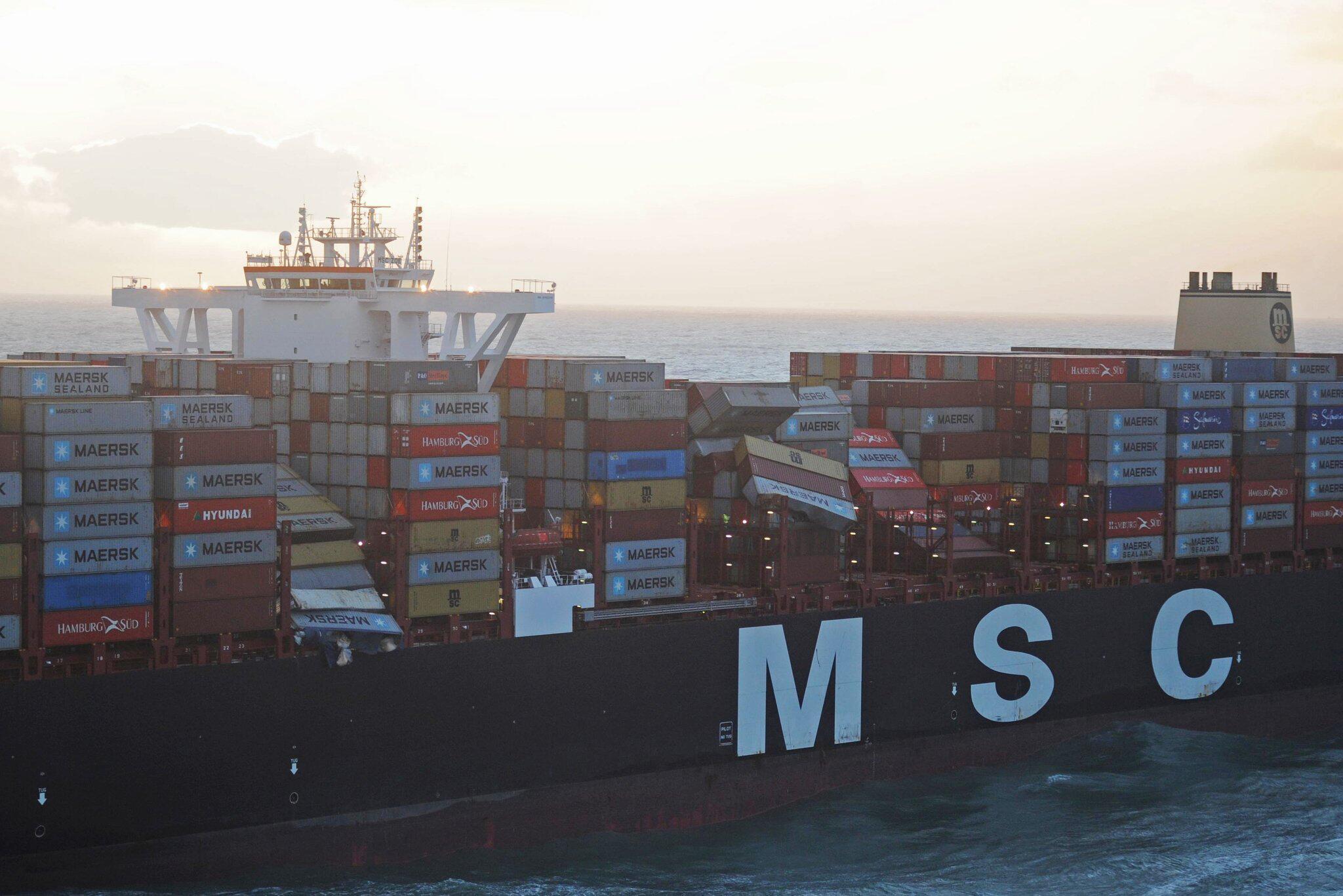 Bild zu Frachter verliert 270 Container in der Nordsee
