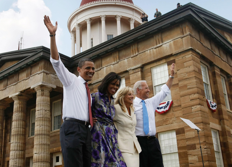 Bild zu Barack Obama, Michelle Obama, Jill Biden, Joe Biden