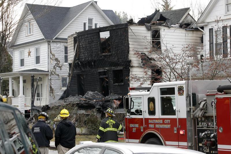 Hausbrand in Baltimore