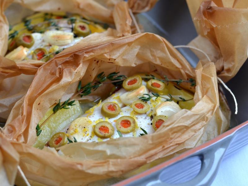 Bild zu Heilbutt mit Zitrone und Oliven