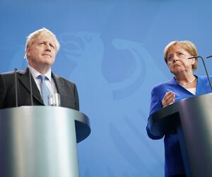 Britischer Premierminister Boris Johnson in Berlin