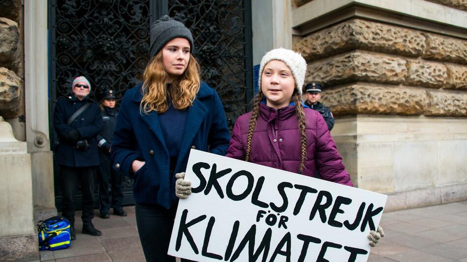 Klimaaktivistin Greta Thunberg in Hamburg