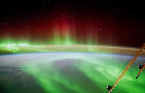 ISS Foto von dem Polarlicht