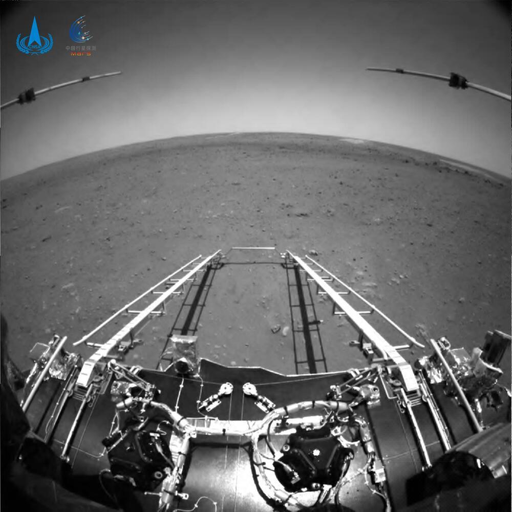 Chinas Mars-Rover schickt erste Bilder