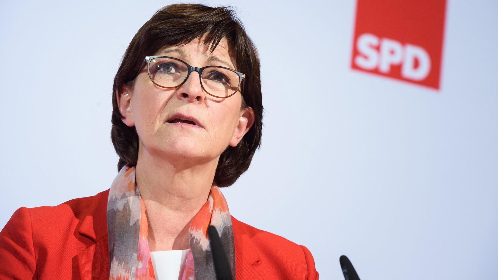 Bild zu SPD-Chefin Esken