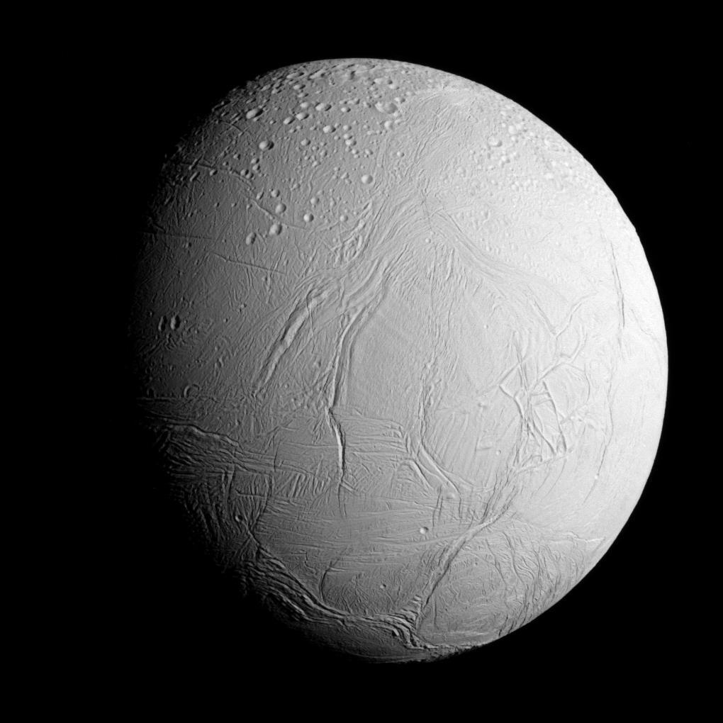 Bild zu Cassini, Mond, Saturn, Enceladus