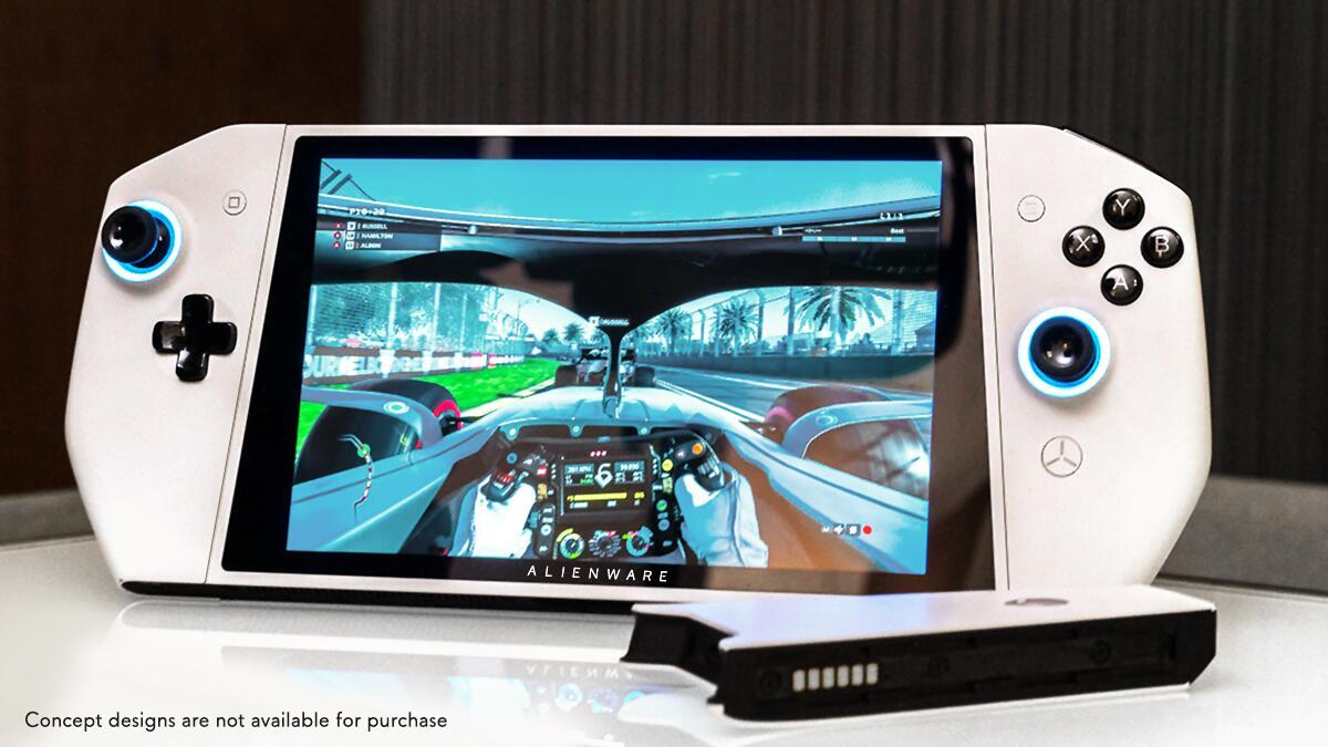 Bild zu Dell, Alienware, Concept Ufo, Ufo, Switch, Klon, Windows, Handheld, PC, Gaming, Games, Spiele