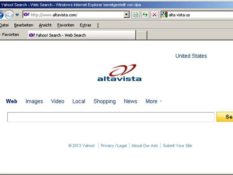 Bild zu Altavista
