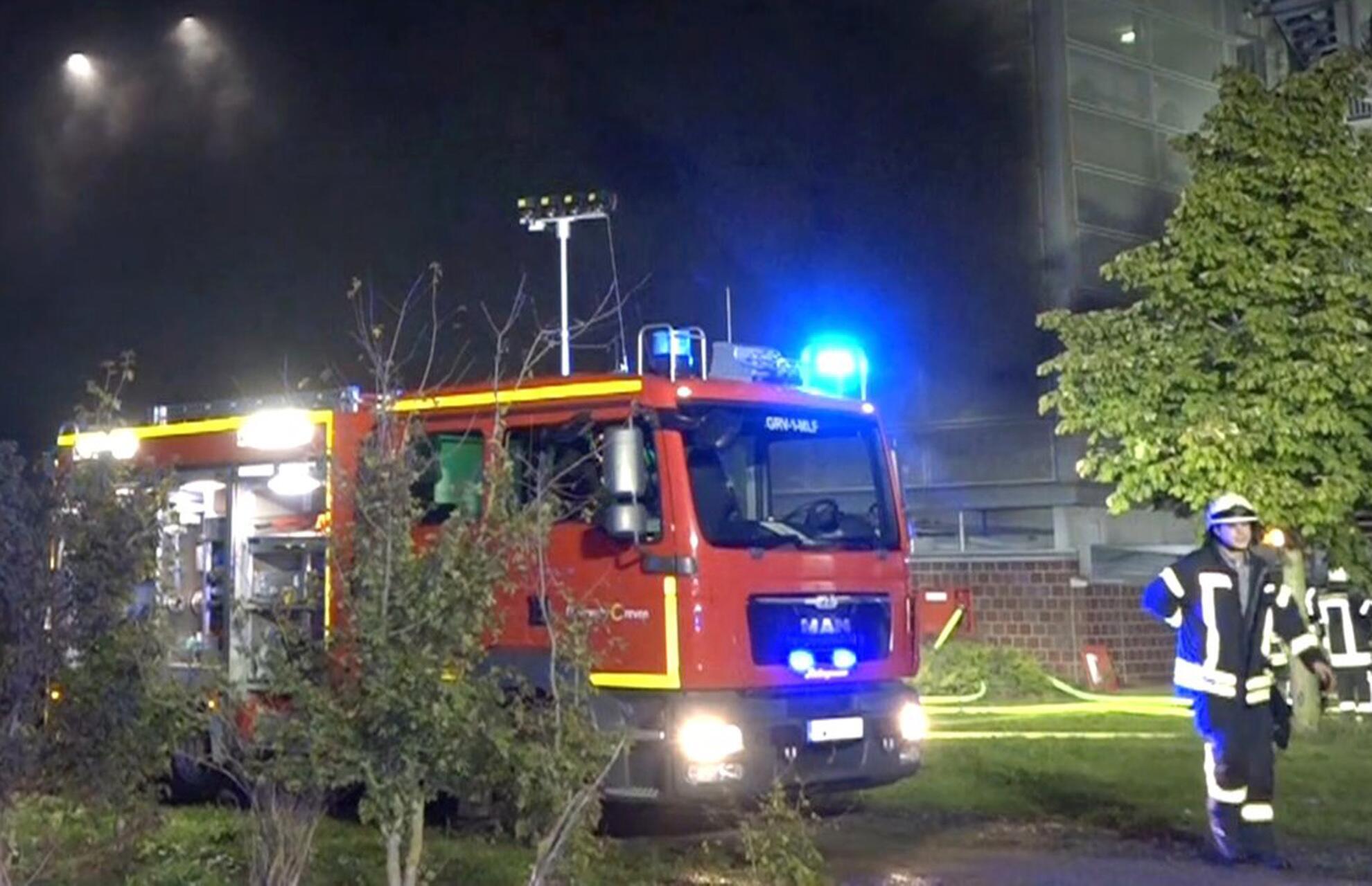Bild zu Großbrand am Flughafen Münster Osnabrück
