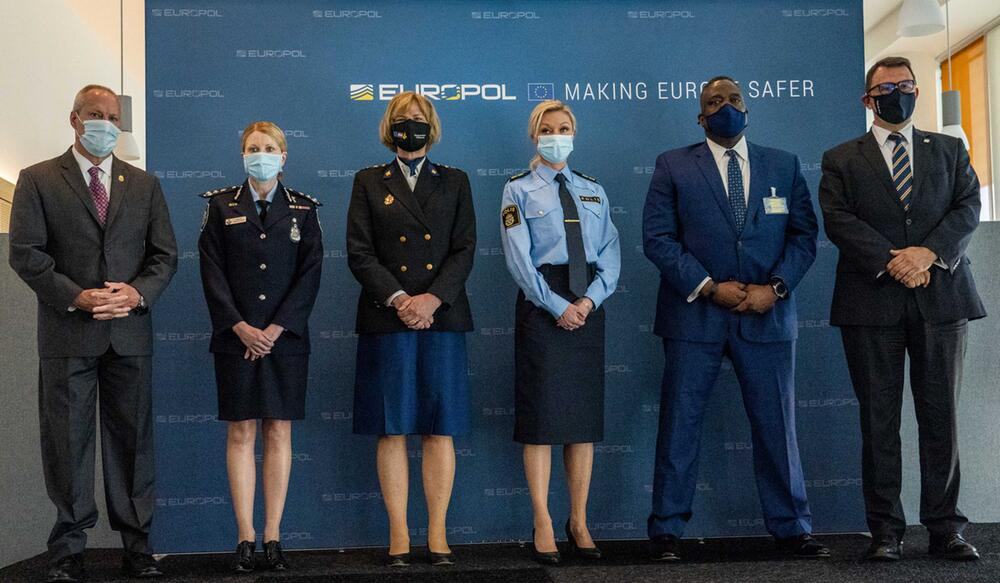 Europol-Pressekonferenz zur organisierten Kriminalität