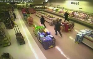 Supermarkt, Fall, Sturz, Mann, Decke