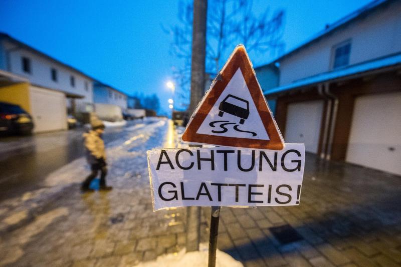 Glatteis in Ostbayern