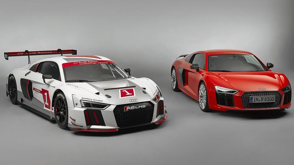 Audi R8 LMS und sein Serienbruder