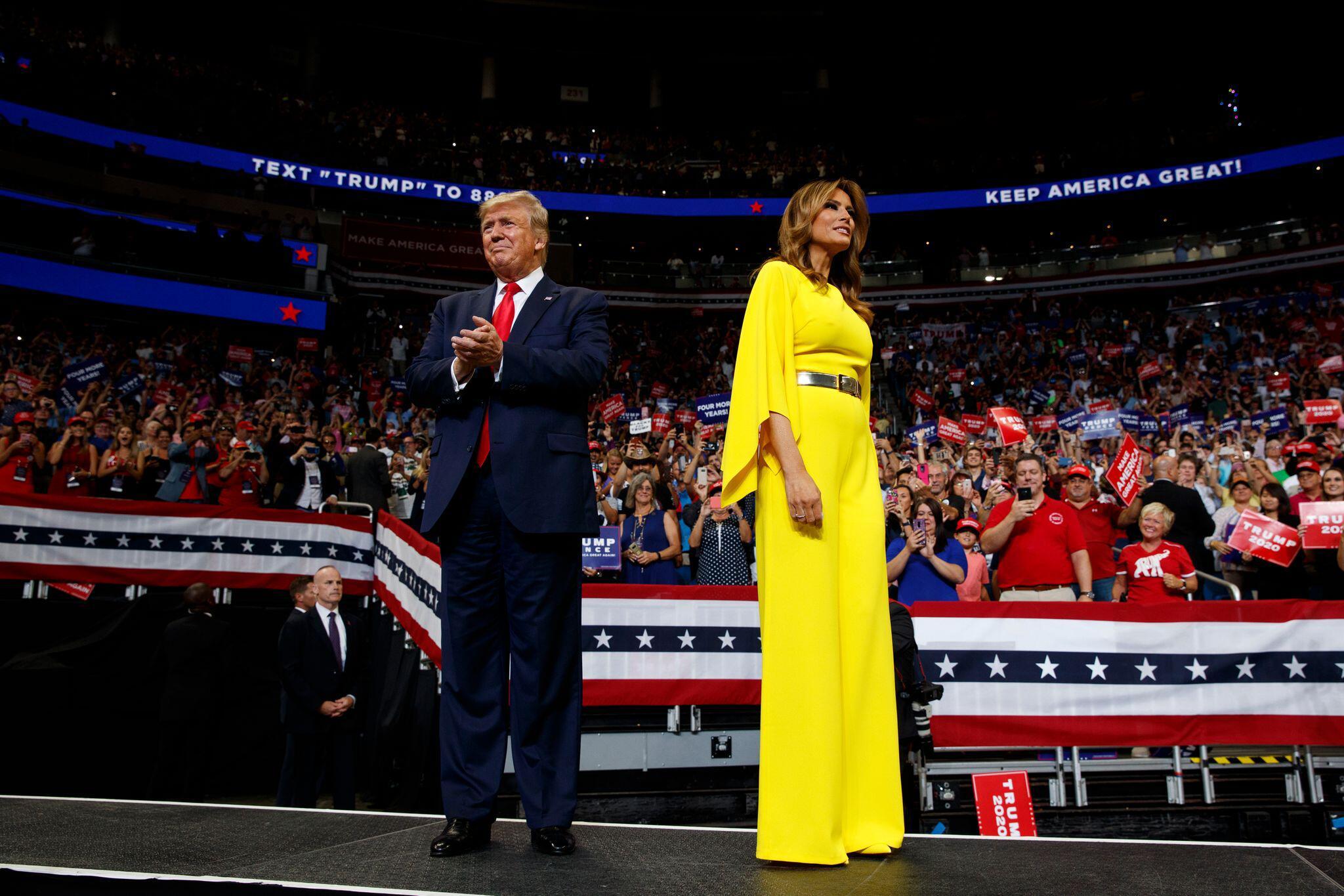 Bild zu Wo ist die First Lady im Wahlkampf?