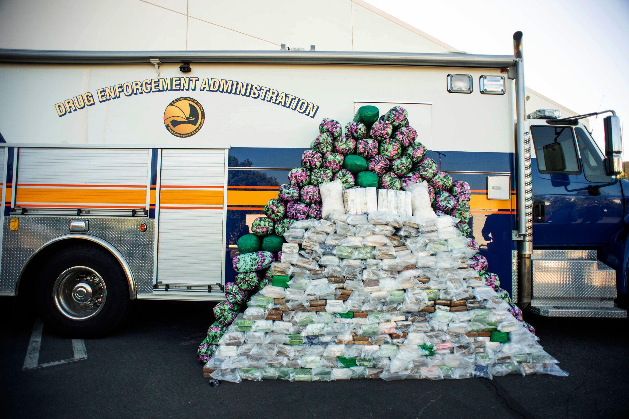 Bild zu US-Behörde beschlagnahmt fast eine Tonne Meth inKalifornien