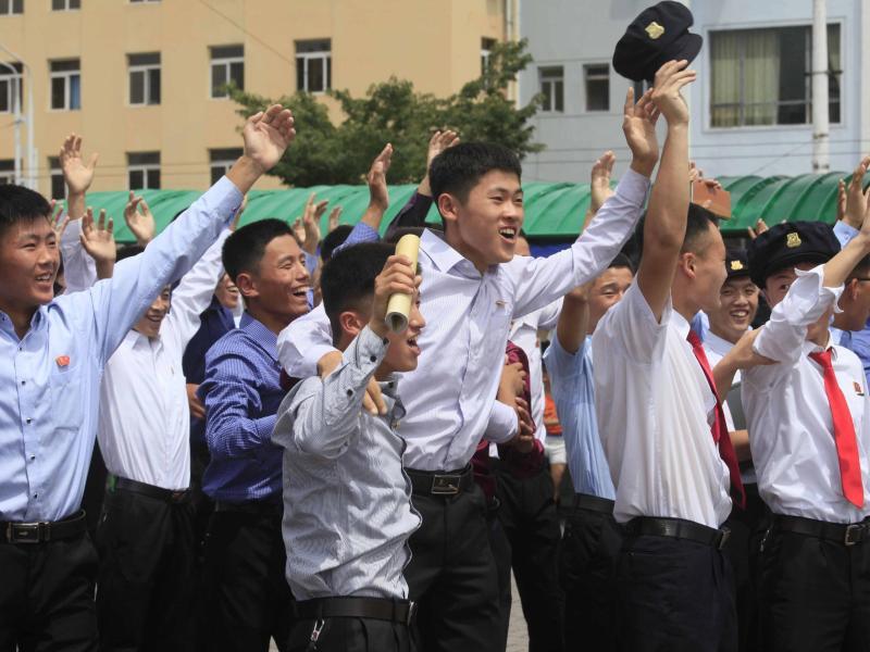 Bild zu Jubel in Pjöngjang
