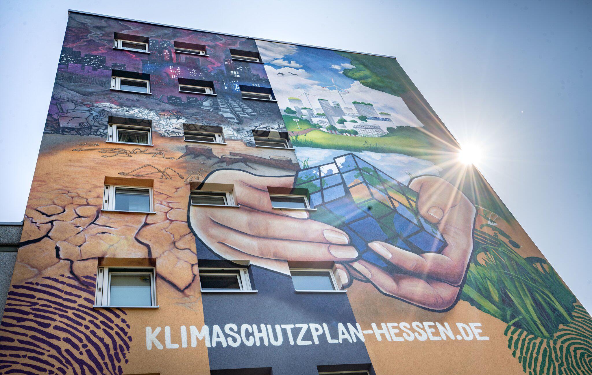 Bild zu Klima-Graffiti in Frankfurt