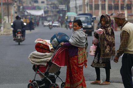 Obdachlose in Kathmandu