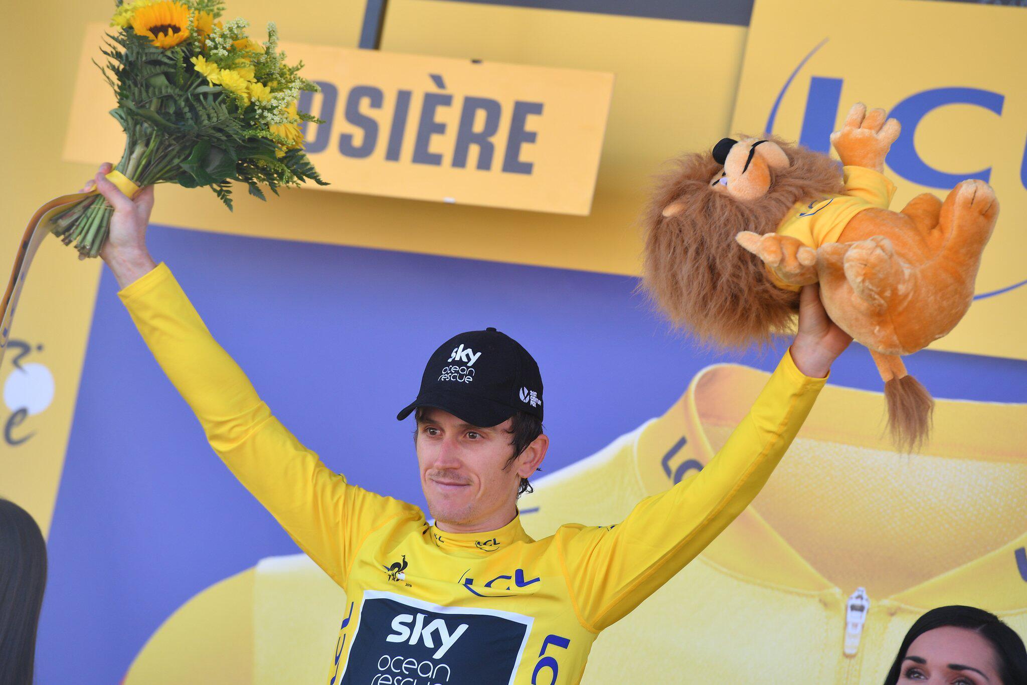 Bild zu Tour de France, 11. Etappe, Geraint Thomas, Gelbes Trikot, La Rosiere