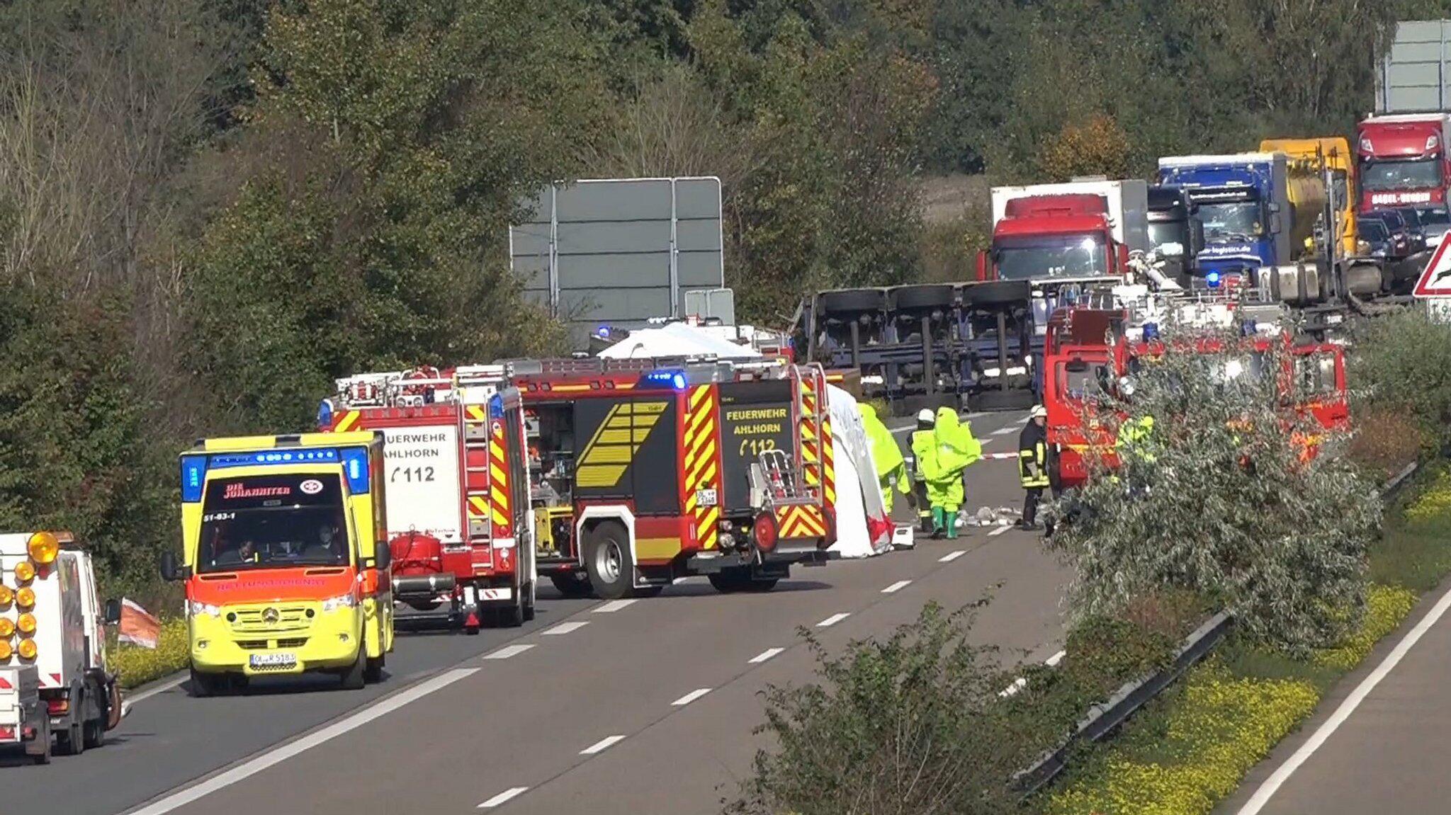 Bild zu Gefahrgutunfall auf der A29