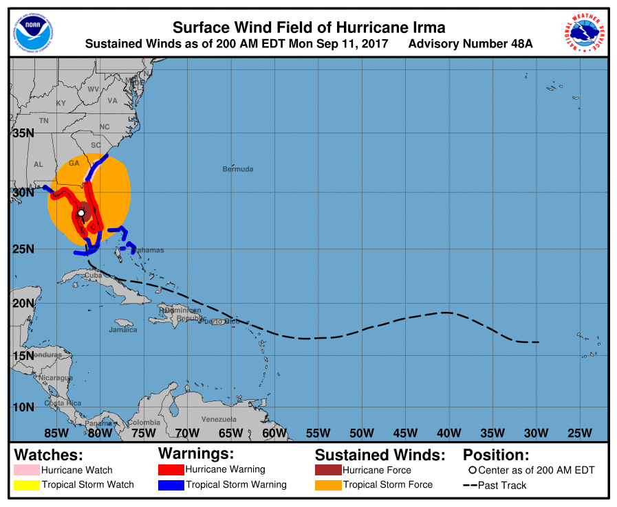 Bild zu Hurrikan, Hurrikan irma, Irma, Wind, Bundesstaat, Florida, Alabama, Georgia