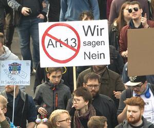 Protest gegen neues Urheberrecht - Berlin