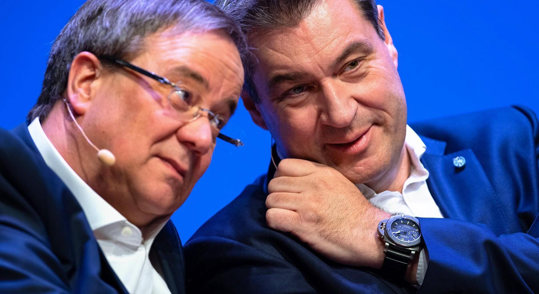 Bild zu Armin Laschet und Markus Söder