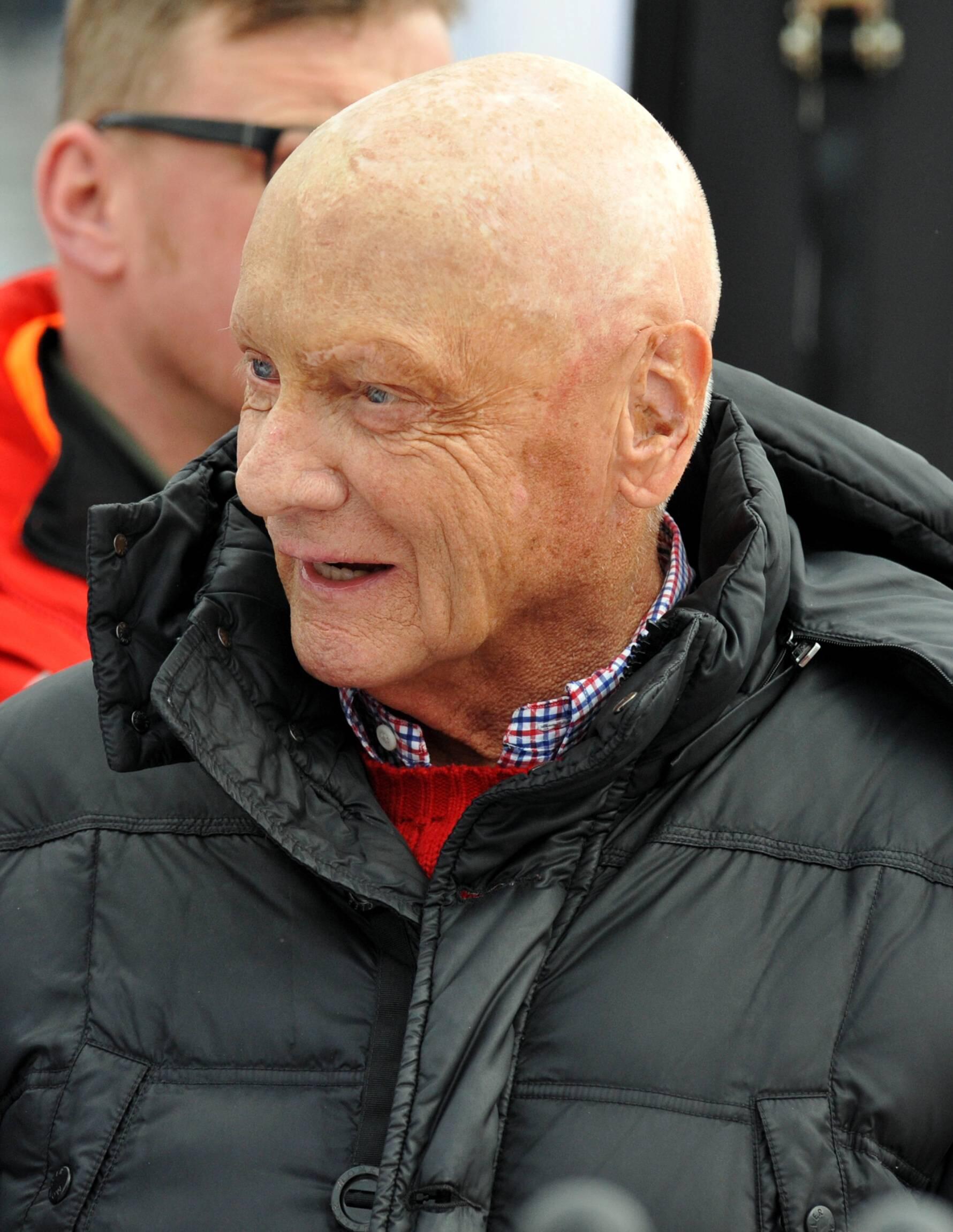 Bild zu Niki Lauda, 2014, Kitzbühel, Glatze, Hahnenkamm, Hahnenkammrennen
