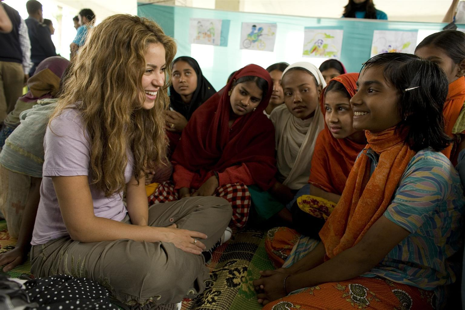 Bild zu Shakira, UNICEF, Bangladesch