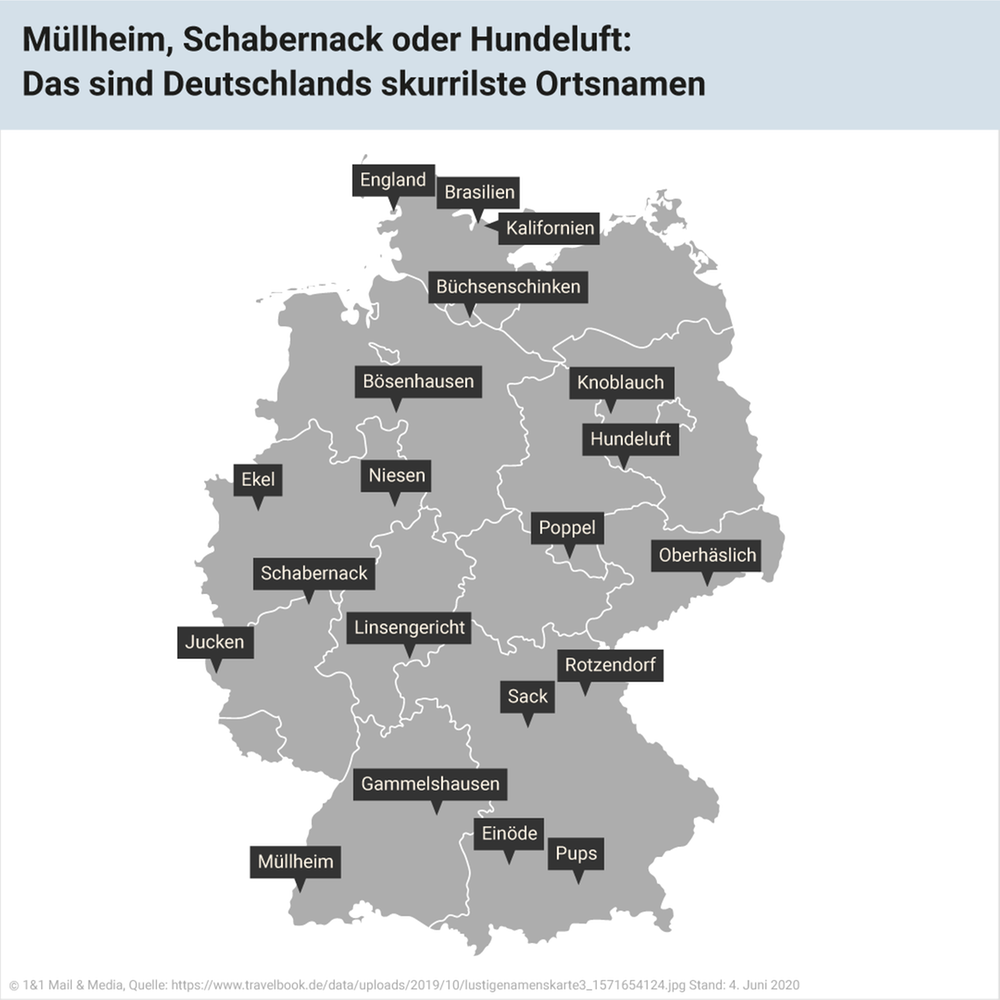 Müllheim, Schabernack oder Hundeluft: Das sind Deutschlands skurrilste Ortsnamen